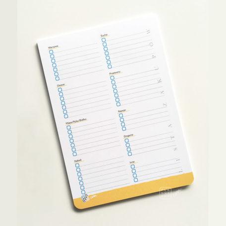 Plannerka Lista Zakupów A5