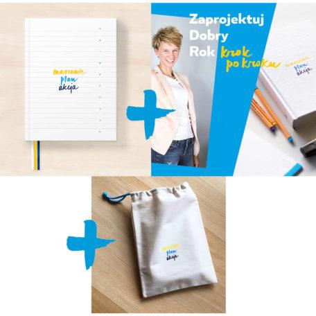 Pakiet Planner•Ka, etui i kurs Zaprojektuj Dobry Rok